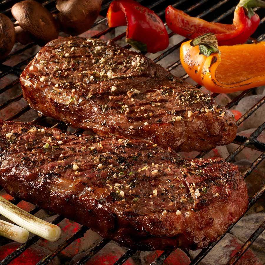 Garden Herb Strip Steaks