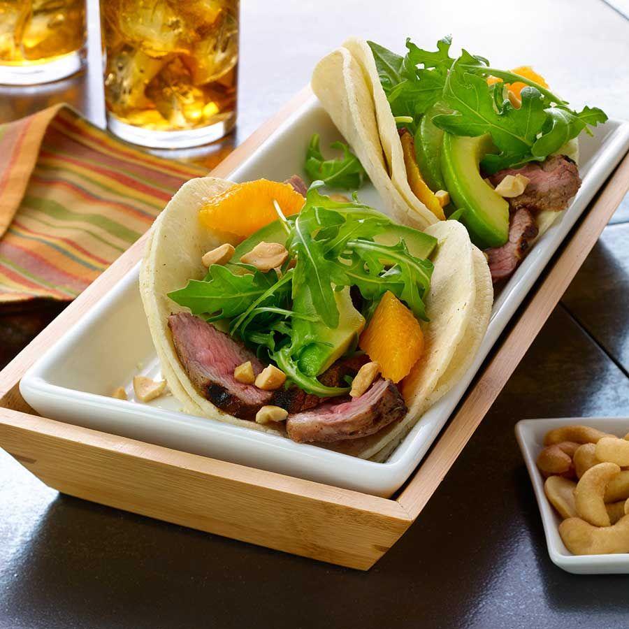 Cali-Caribbean Steak Street Tacos