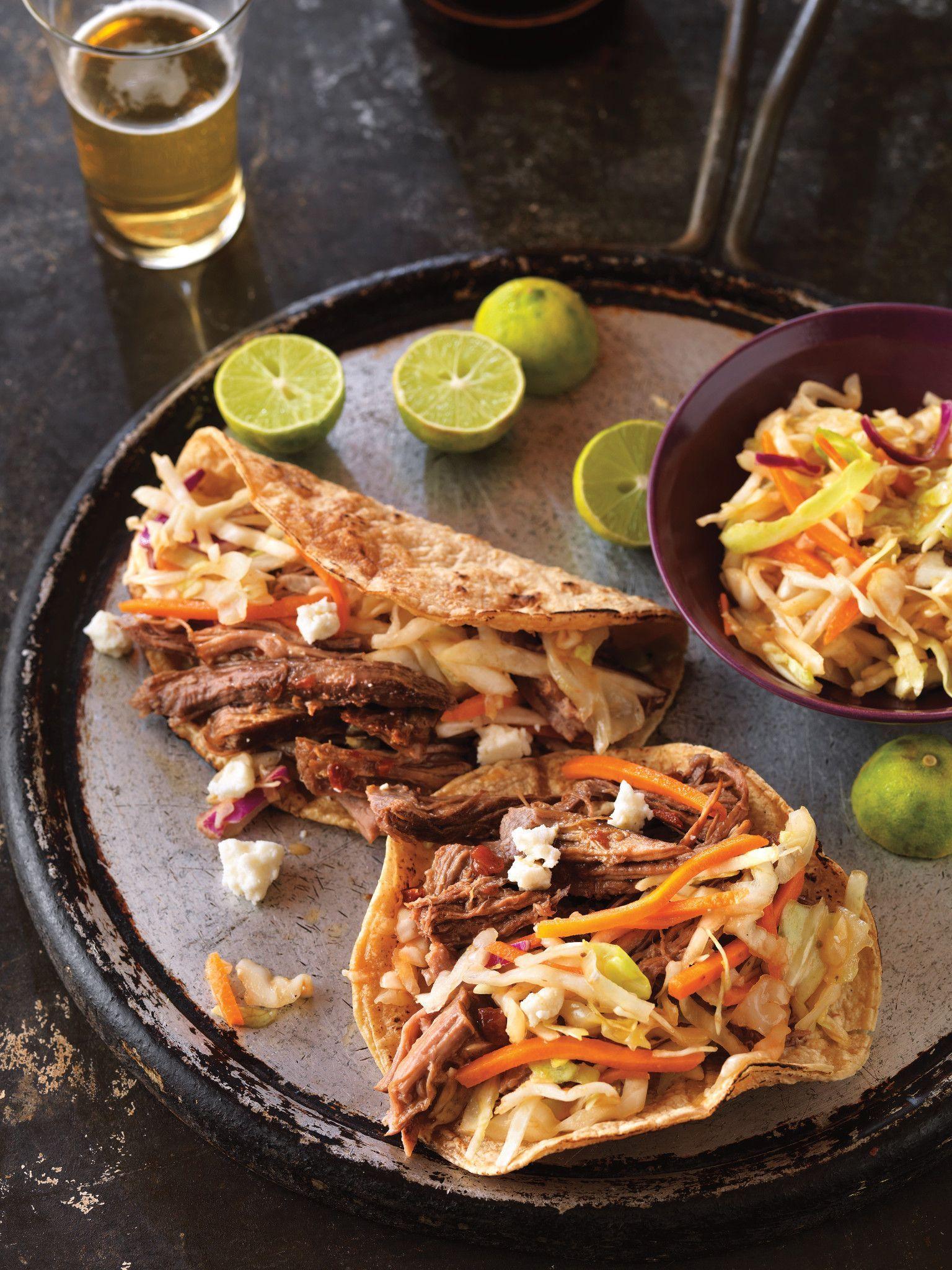 Beer Braised Spicy Beef Tacos