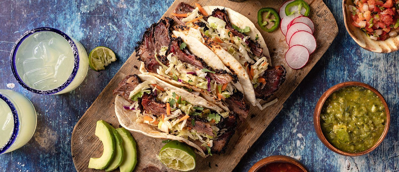 Brisket Tacos with Triple Salsa