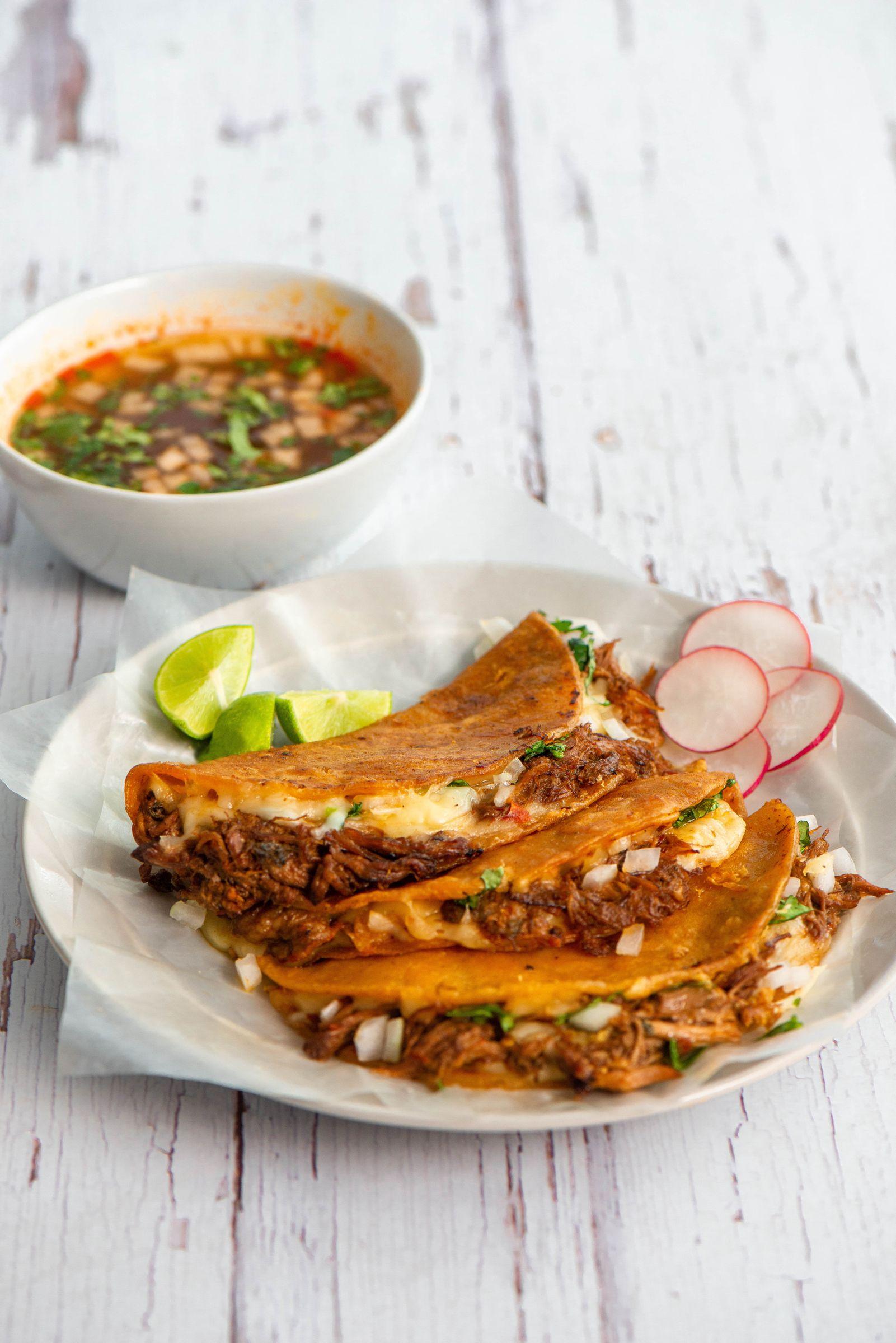 California Quesabirria Beef Tacos