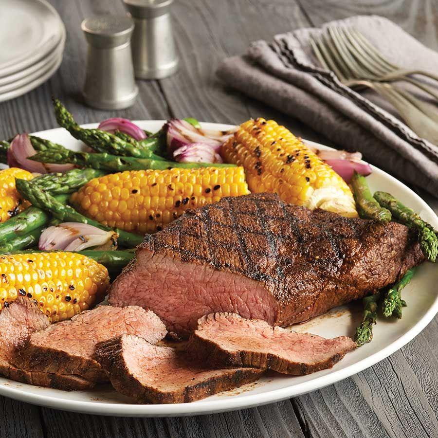 Lemon-Garlic Grilled Beef Tri-Tip Roast with Vegetables
