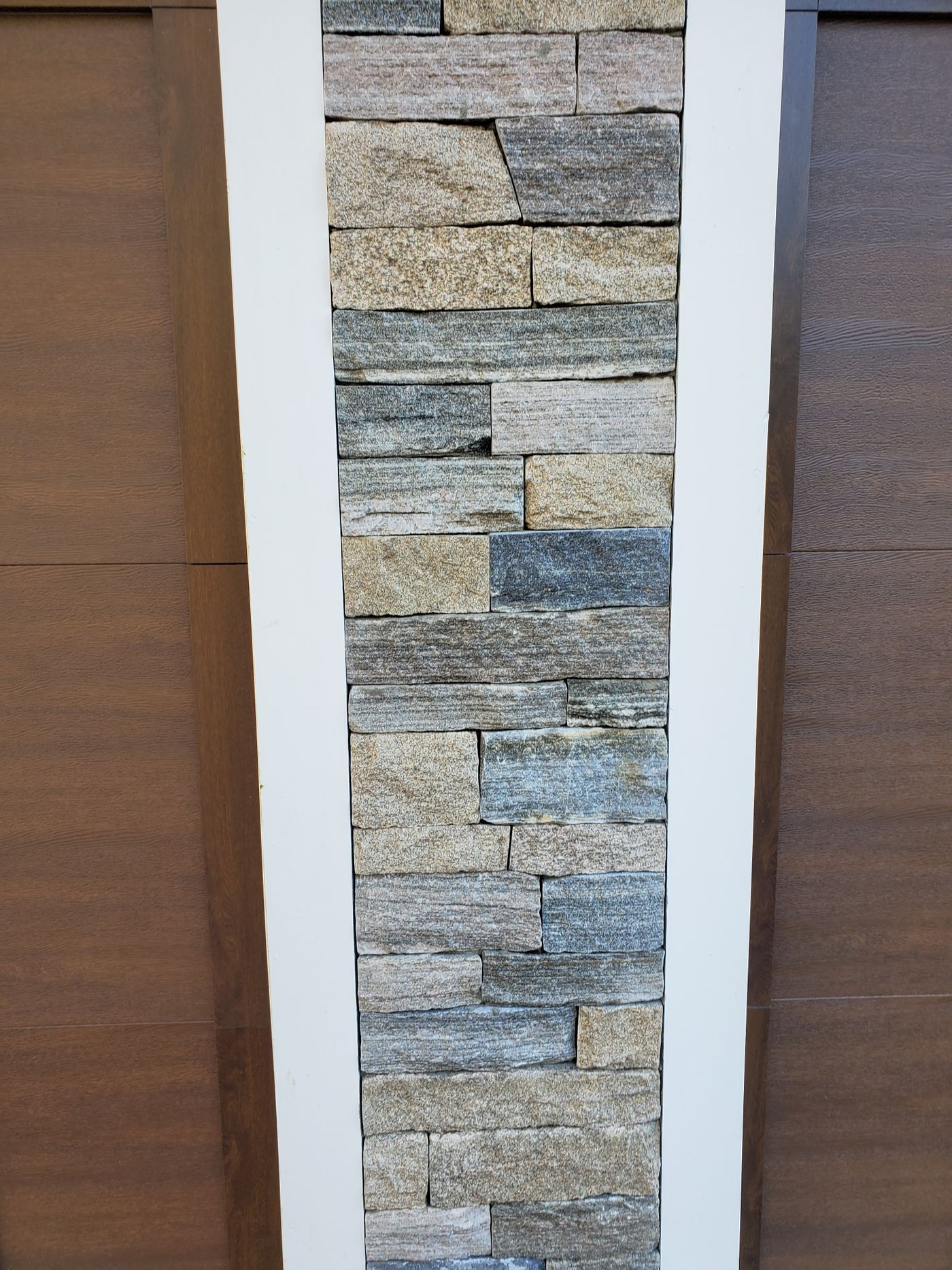 stone veneer siding close up