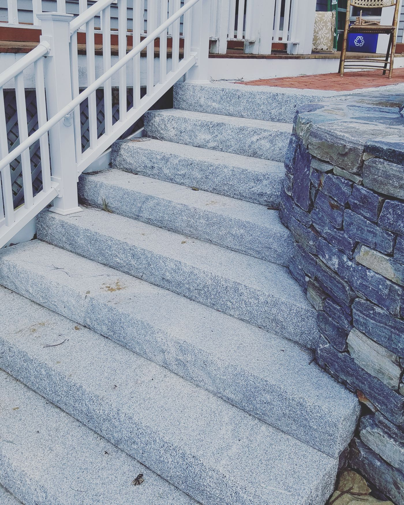 outdoor stone staircase design